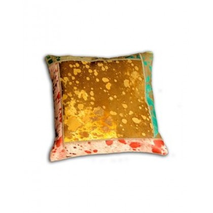 Braxton Hide and Leather, Multi-colored Square Pillow