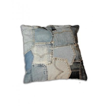 Zilmil Denim Blue Jean Pocket Pillow