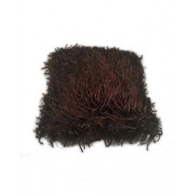 Zilmil Shaggy Pillow - Brown