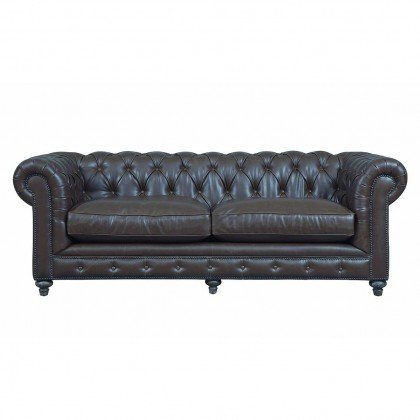 Durango Antique Brown Leather Cesterfield